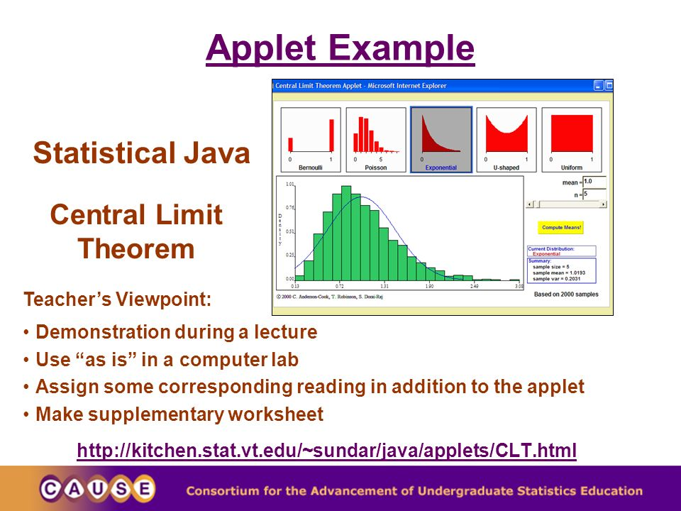 Finding Internet Resources for Teaching Statistics Using CAUSEweb ...