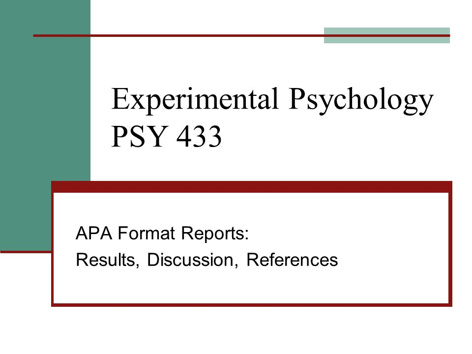 Apa reports