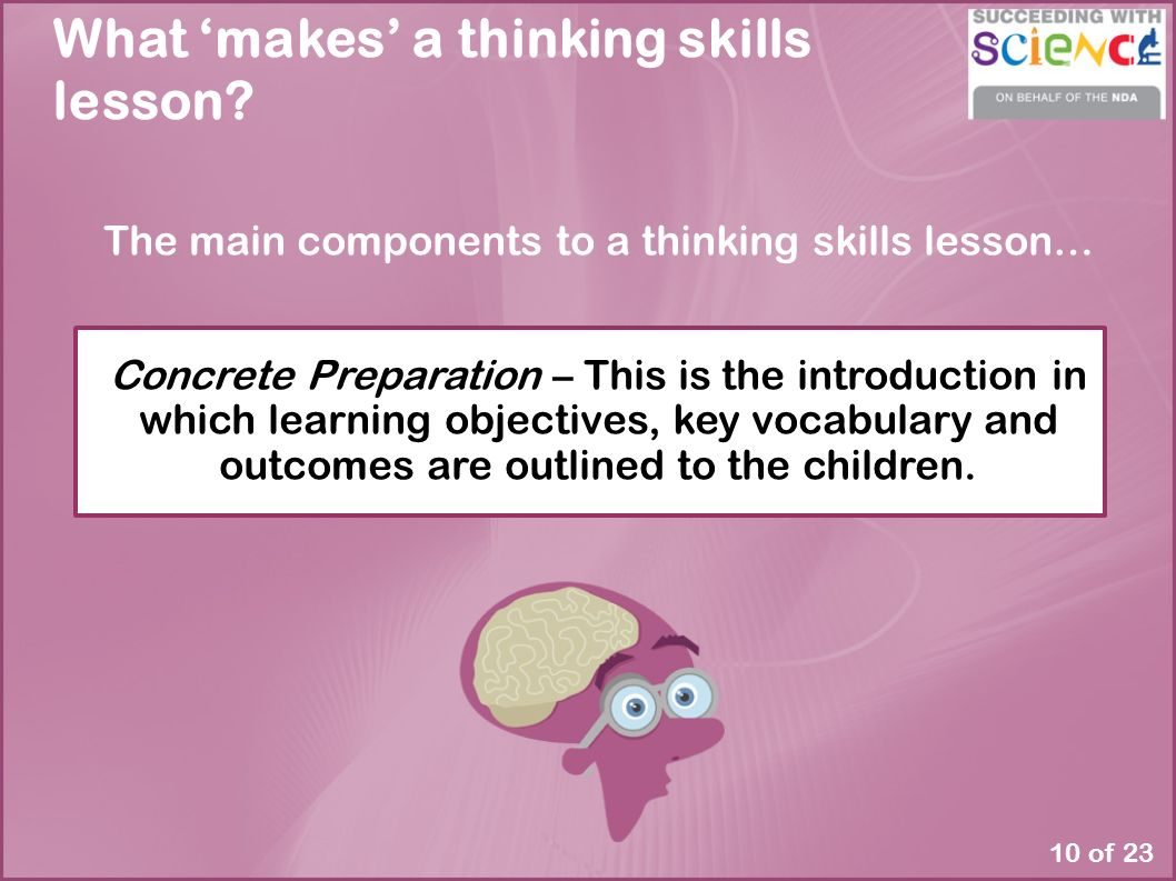 "critical thinking vocabulary activities These types of activities give 5 years and over the ""activities for the development of critical thinking"" ebook has concepts and vocabulary."