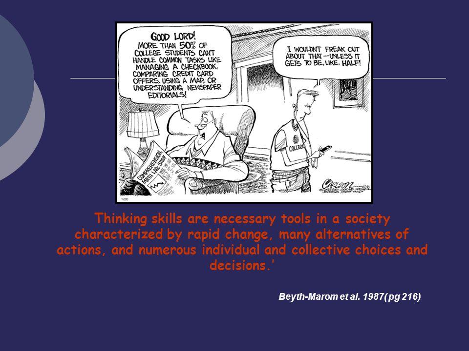 Critical thinking society
