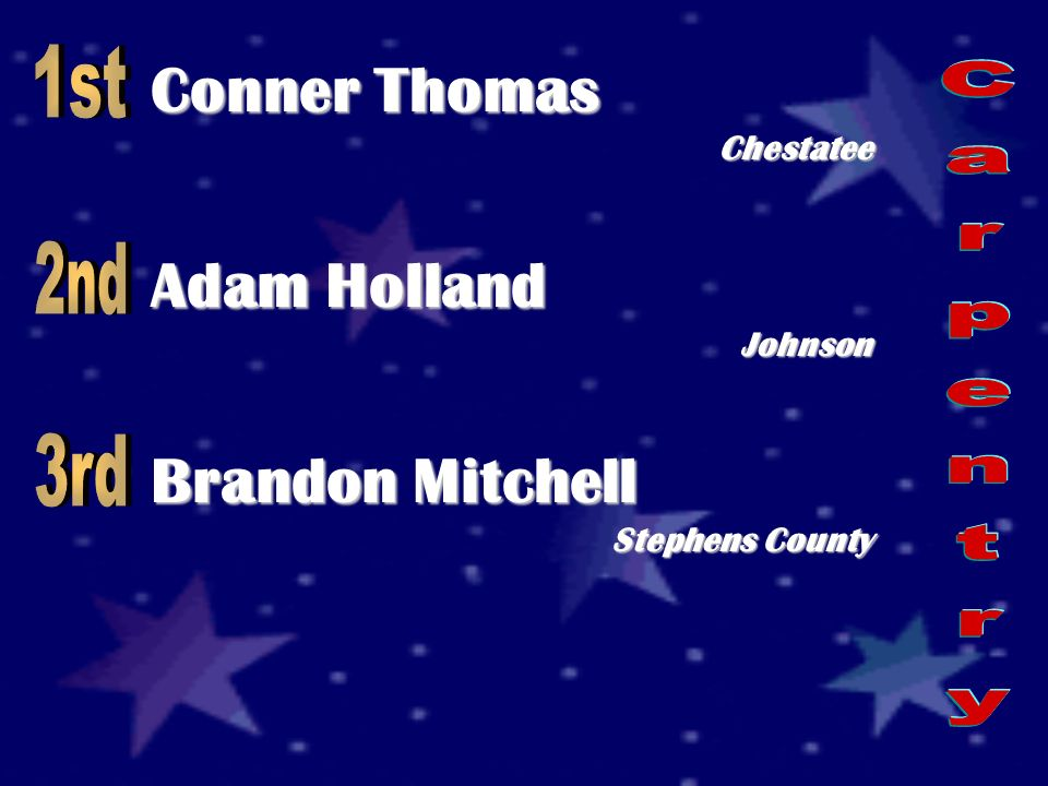 Conner Thomas Chestatee Adam Holland Johnson Brandon Mitchell Stephens County