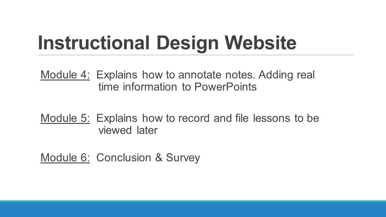 Instructional Design Website Module 4: Explains How To Annotate Notes