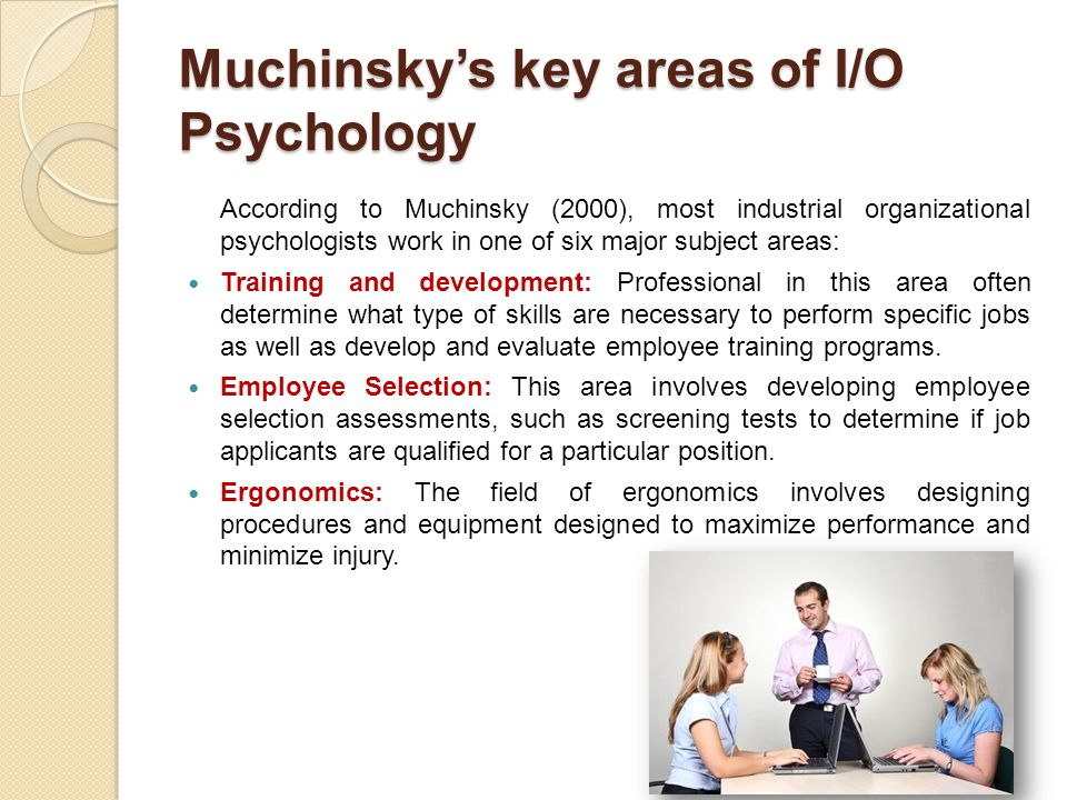 what is industrial and organisational psychology