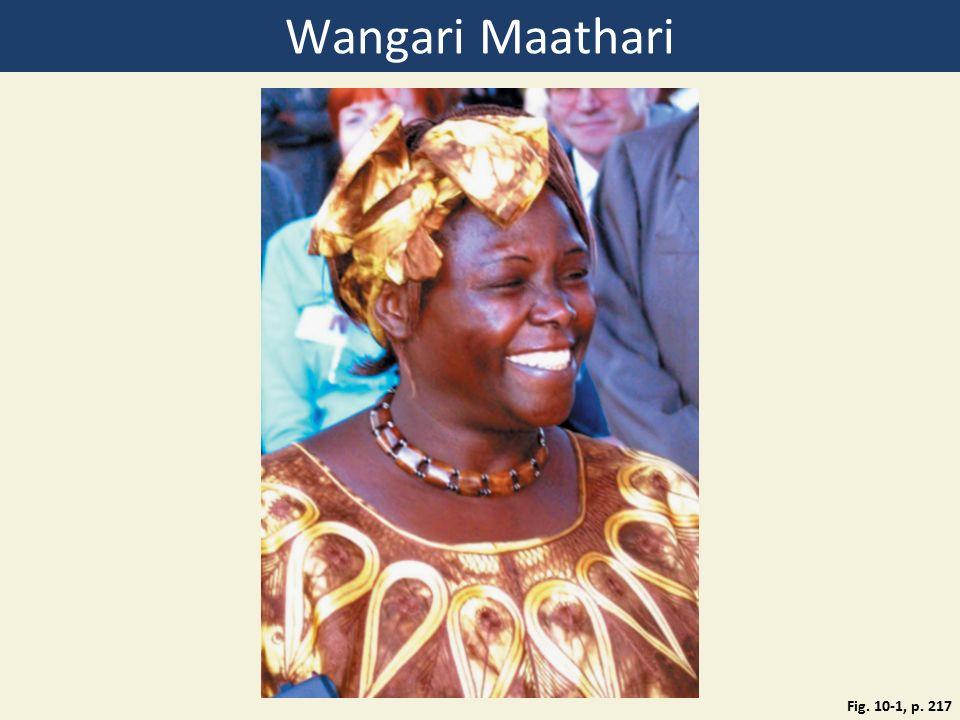 Wangari Maathari Fig. 10-1, p. 217