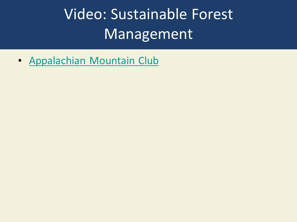 Video: Sustainable Forest Management Appalachian Mountain Club
