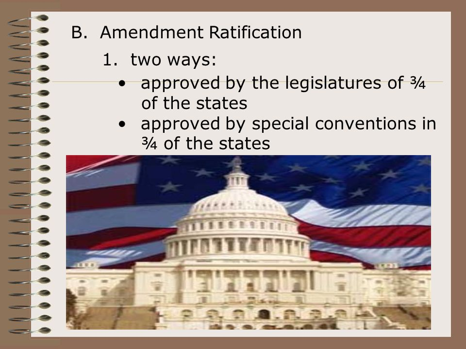 B. Amendment Ratification 1.