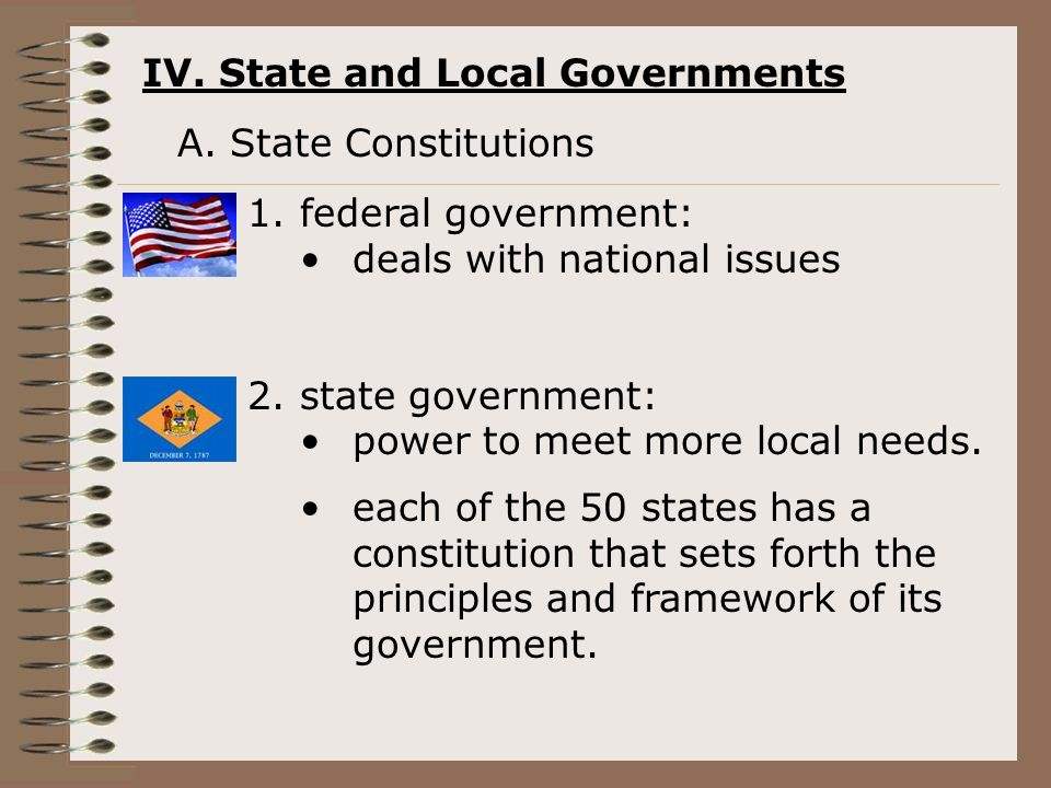 IV. State and Local Governments A.