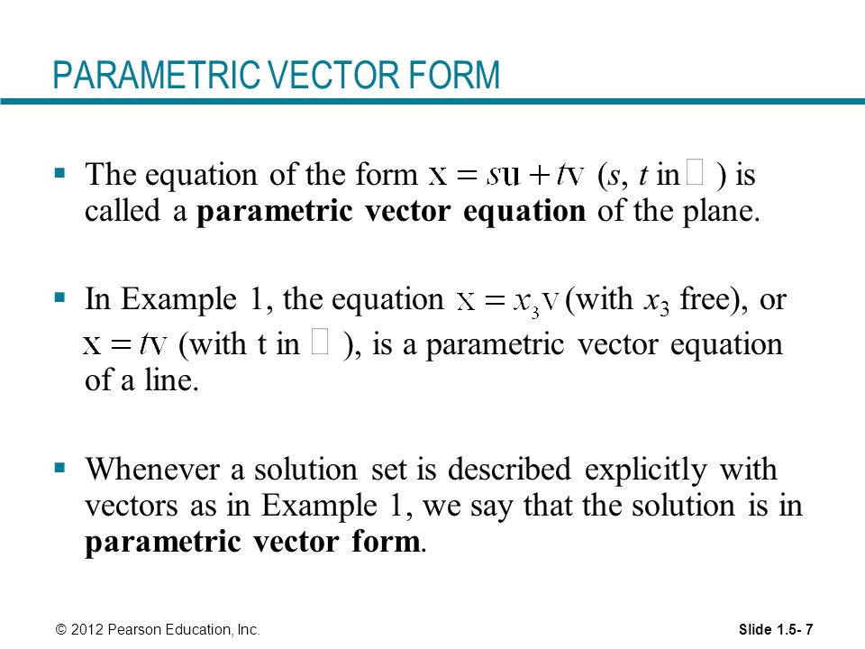 Vectors And Parametric Equations - Jennarocca