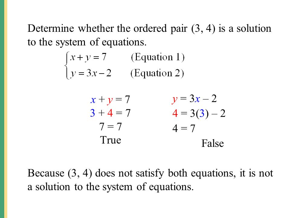 Ordered Pairs As Solutions Of Linear Equations Calculator ...