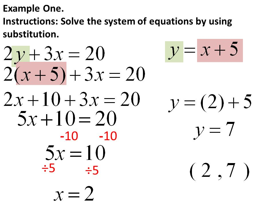 Solving Systems Of Equations By Substitution - Tessshebaylo