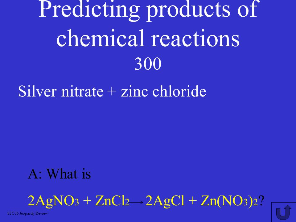 Predicting products of chemical reactions 200 A: What is 2Al + Fe2O3 Al2O3 + 2Fe.