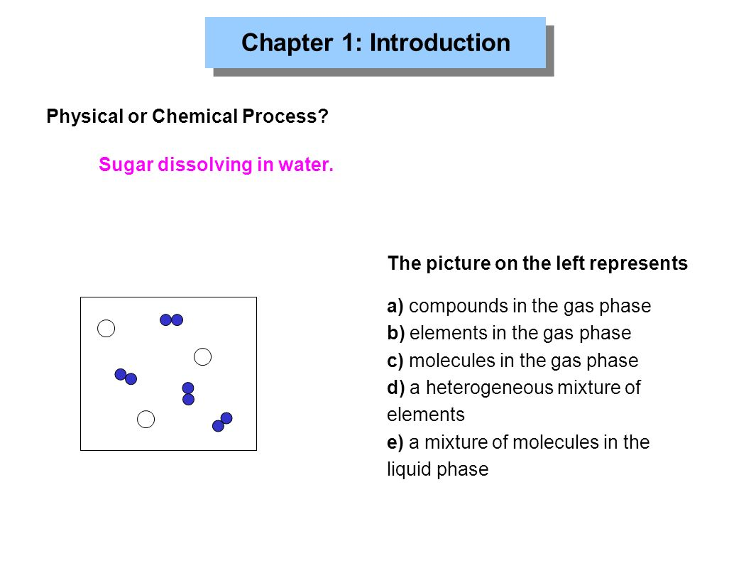 Chapter 1: Introduction Physical or Chemical Process.