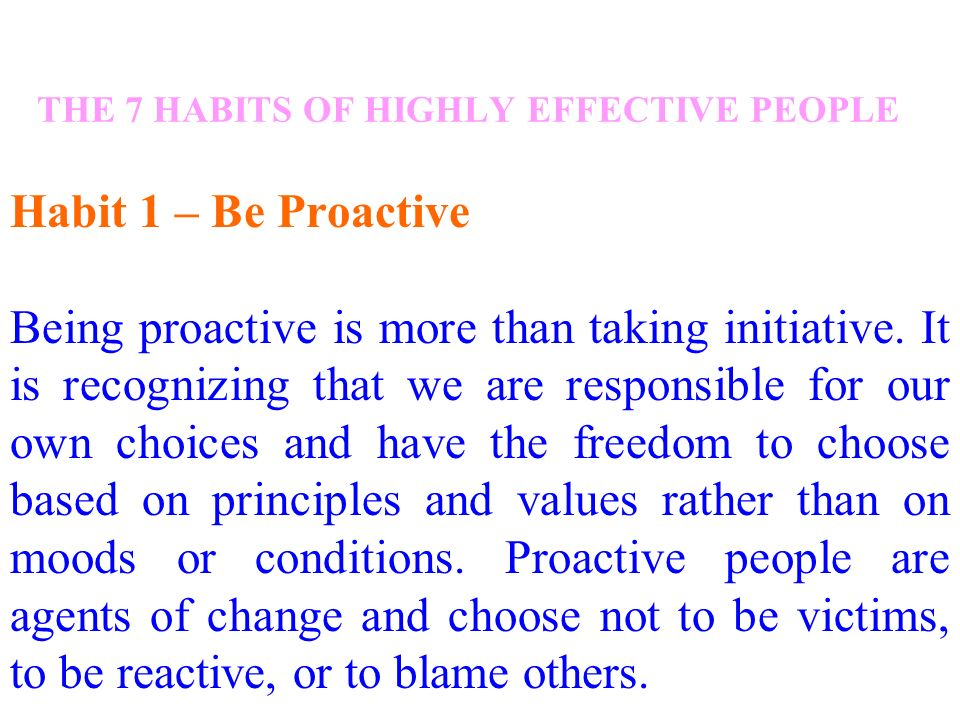 reaction paper of seven habits of highly effective people The papers used before, during, and after the 7-week unit on covey's 7 habits of highly effective people.
