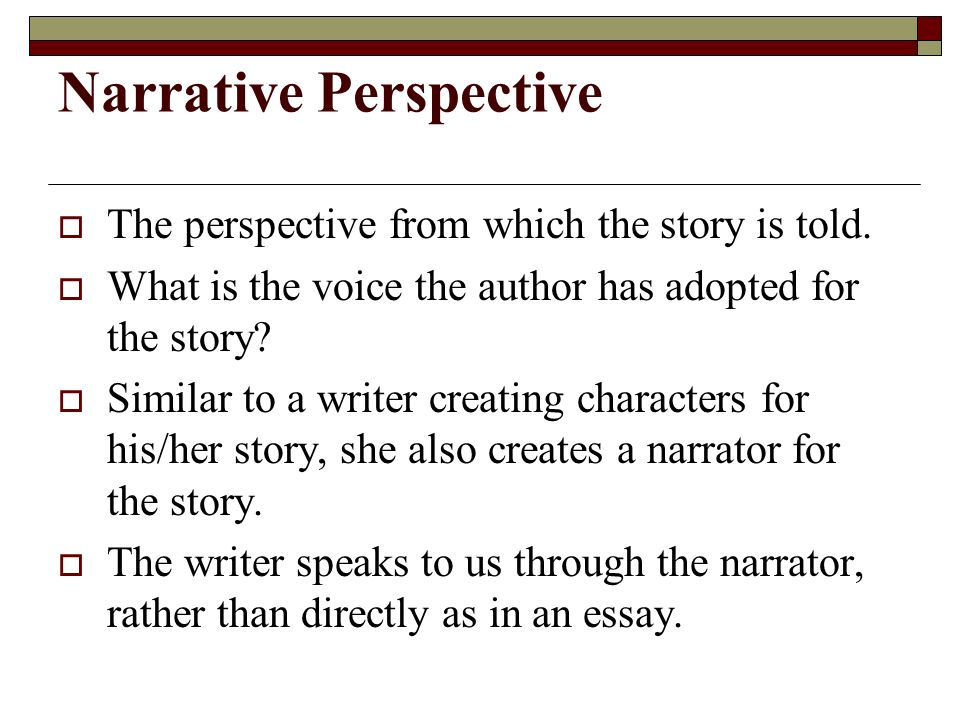 point of view practice narrative perspective  the perspective  the perspective from which the story is told