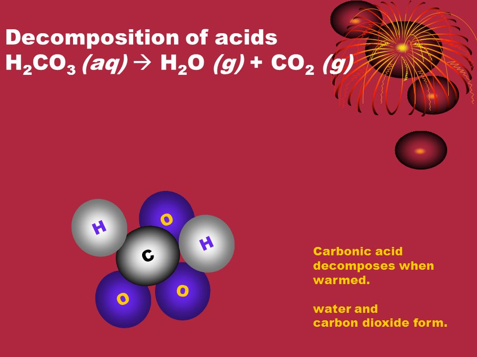 Decomposition of metal chlorates AClO 3  ACl + O 2 (g) 2KClO 3 (s)  2KCl (s) + 3O 2 (g) K O This reaction occurs when you heat potassium chlorate.
