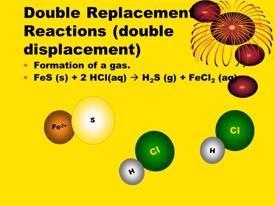 Double Replacement Reactions (double displacement) Formation of a precipitate.