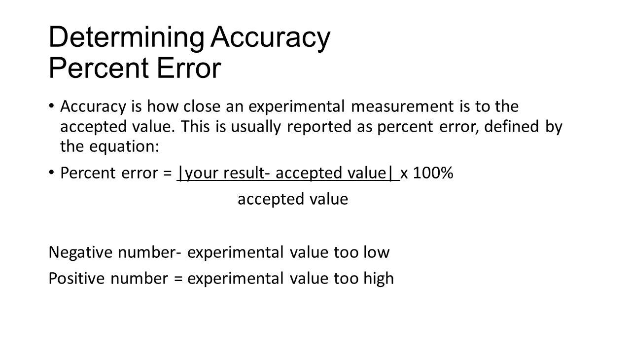 Equation For Percent Error Talkchannels