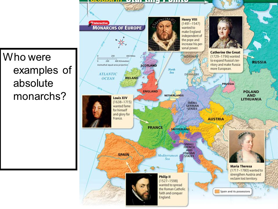 Who were examples of absolute monarchs