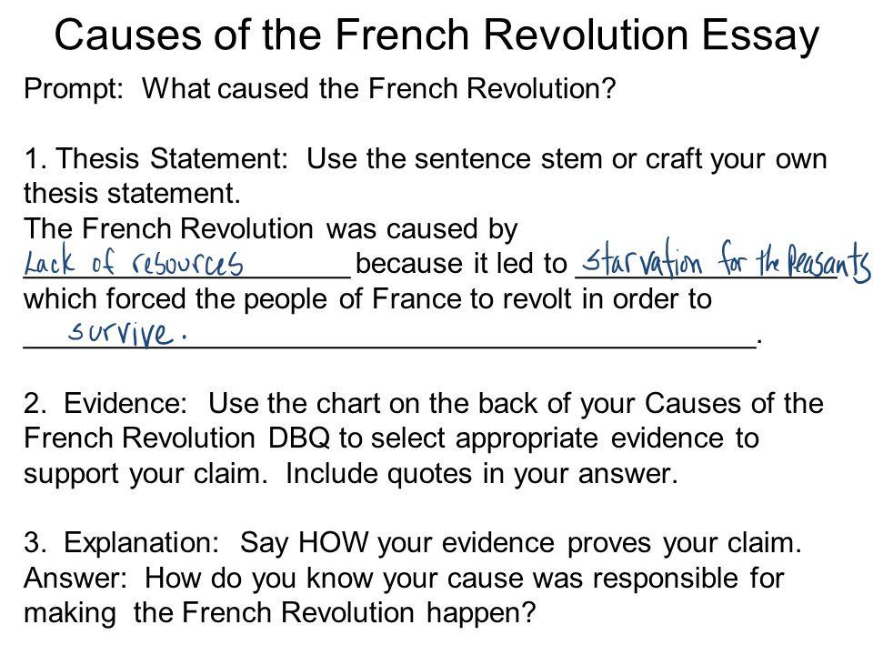 Regent essay french rrevolutin causes