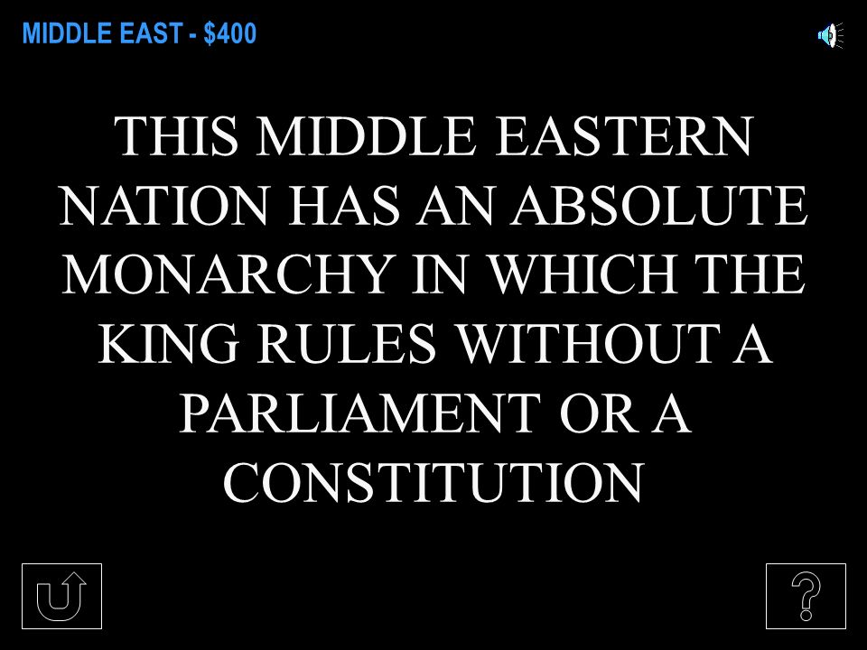 MIDDLE EAST - $200 ISRAEL; POWER IS HELD BY THE LEGISLATURE, AND THE PRIME MINISTER HOLDS EXECUTIVE POWER