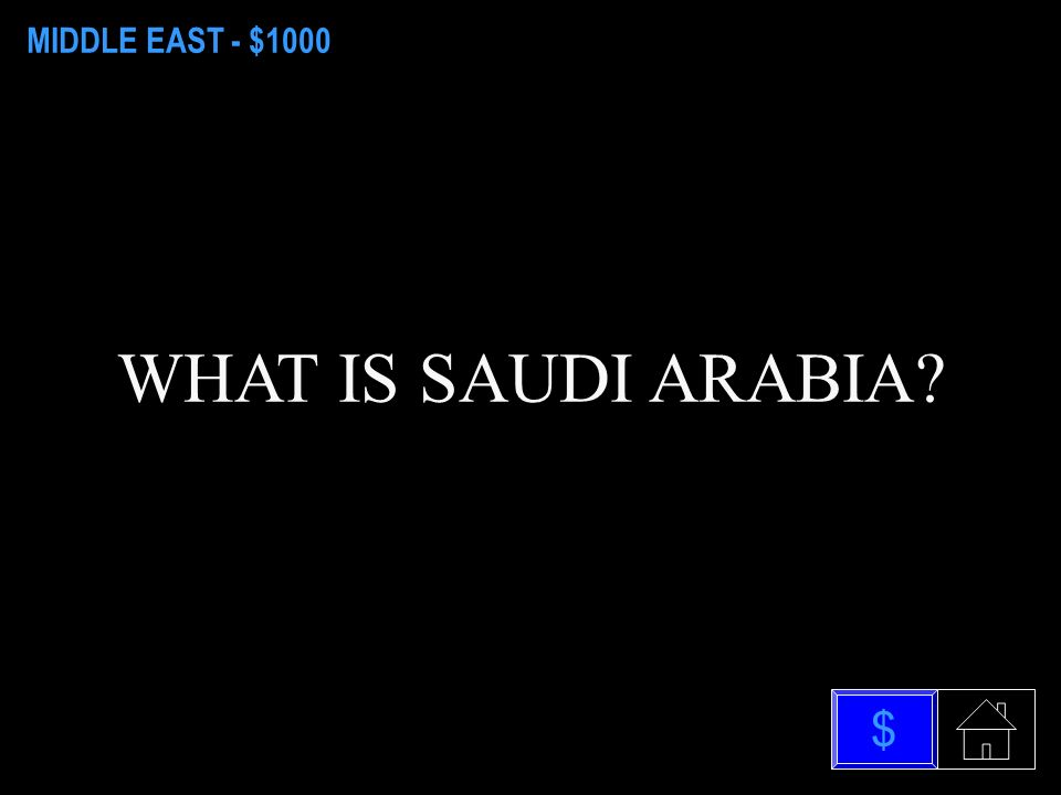 MIDDLE EAST - $800 WHAT IS INHERITS POWER $