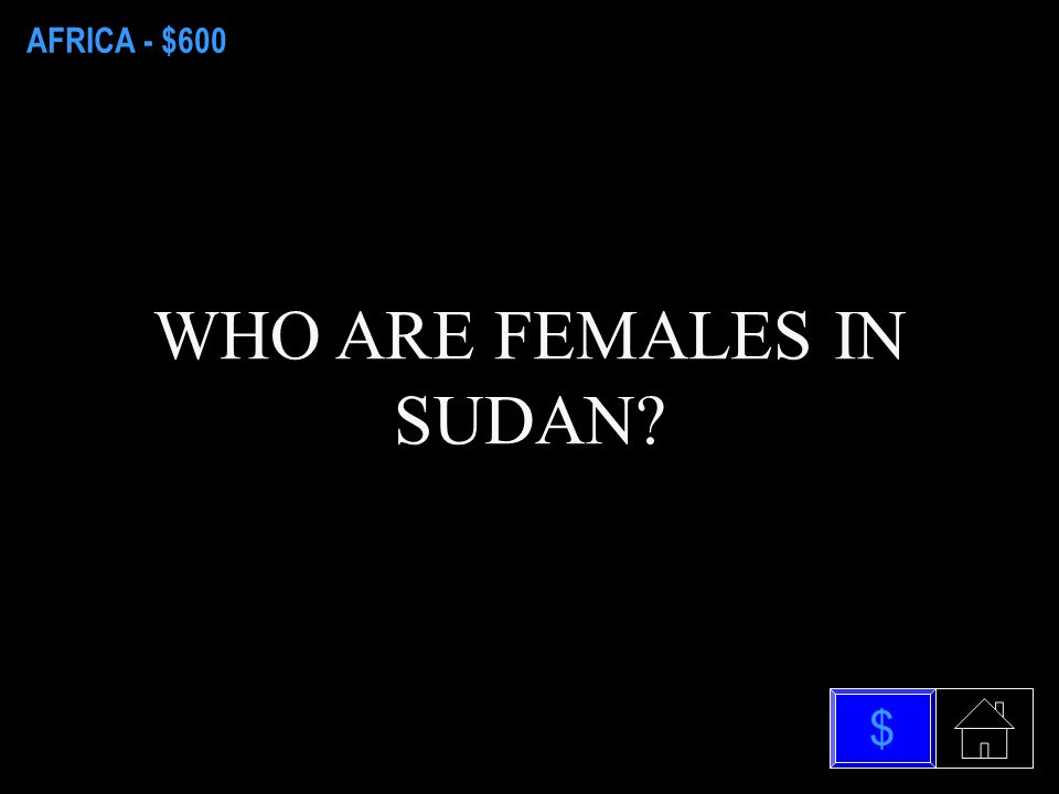 AFRICA - $400 WHAT IS SOUTH SUDAN $