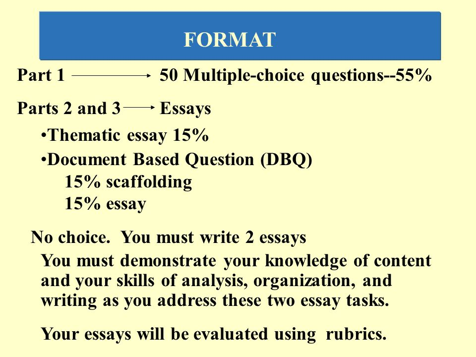 ap us history thematic essay rubric