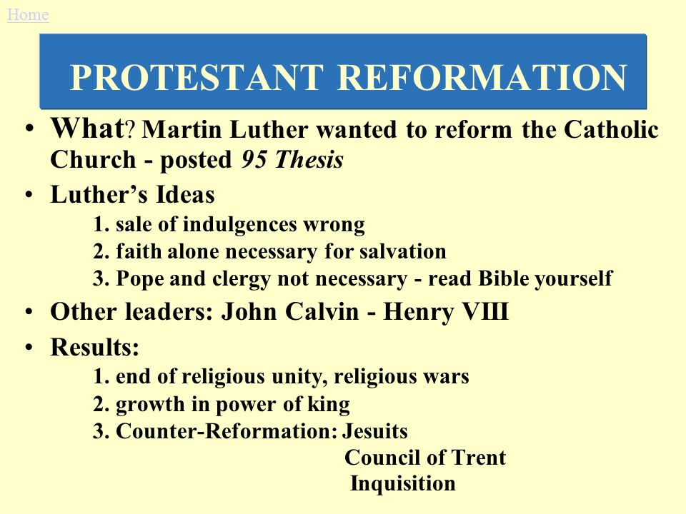 Thesis statement for an essay Middle Ages:Catholic vs. Protestant reform?