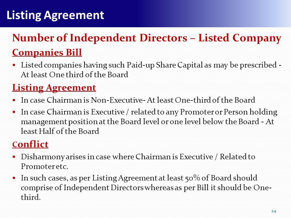 Rnkaraiah executive director finance 1 synopsis companies bill 24 listing agreement platinumwayz