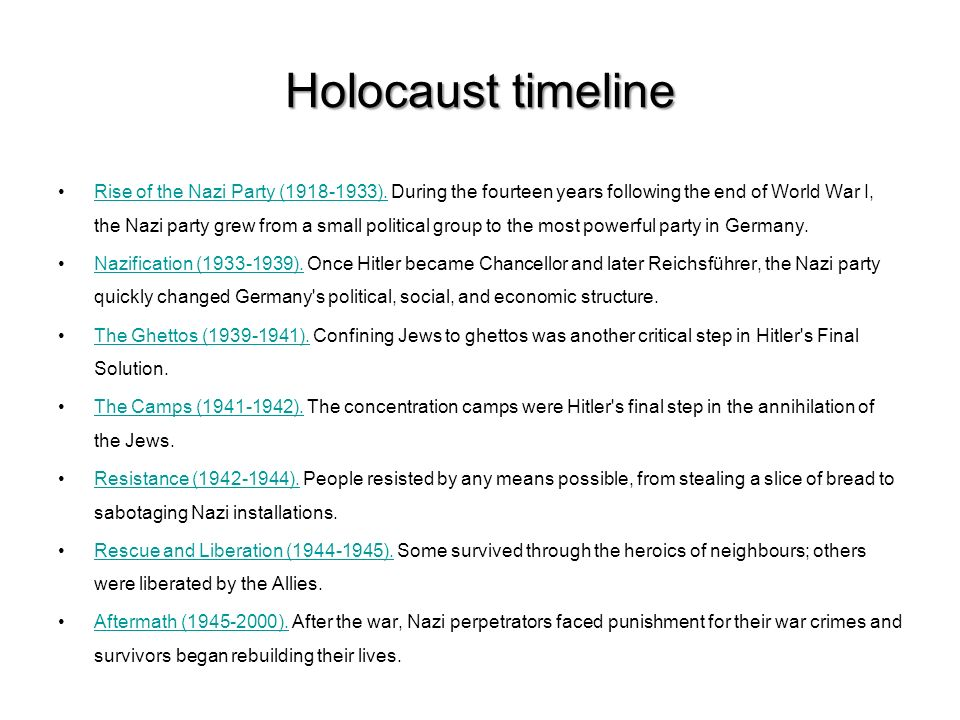 THE HOLOCAUST: ppt download