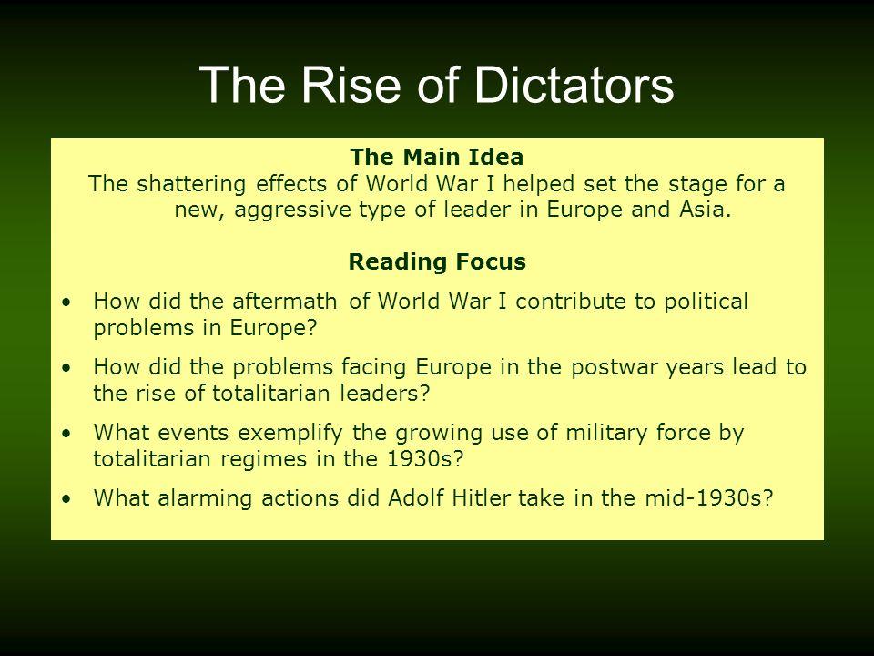 rise of dictators notes