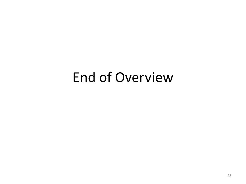 End of Overview 45