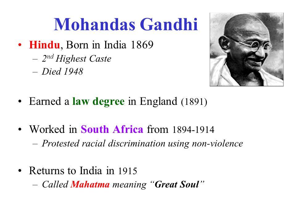 a biography of mohandus karamchand gandhi Mohandas karamchand gandhi was born on october 2, 1869, at porbandar, in the present-day indian state of gujarat.