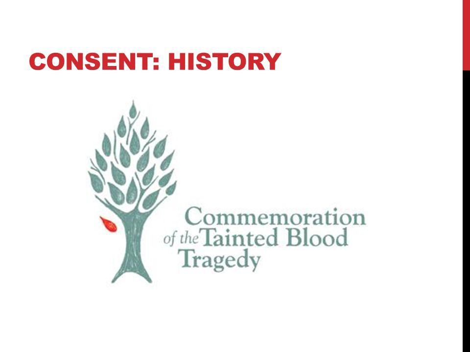 CONSENT: HISTORY