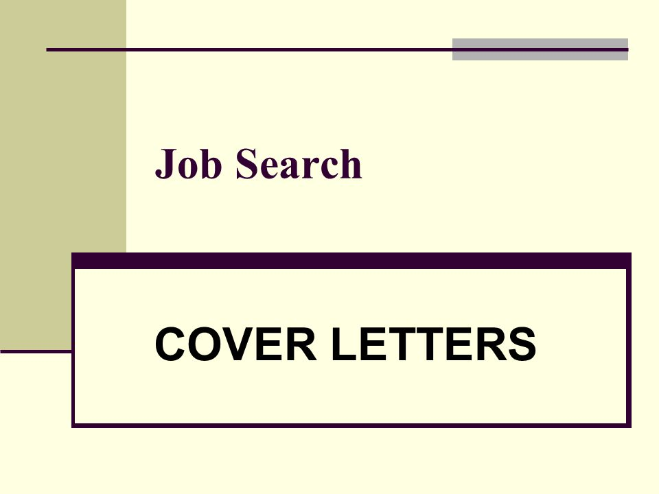 1 job search cover letters
