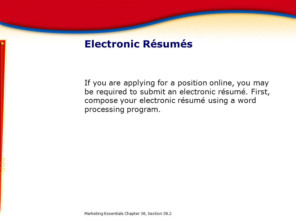 30 electronic - Electronic Resume