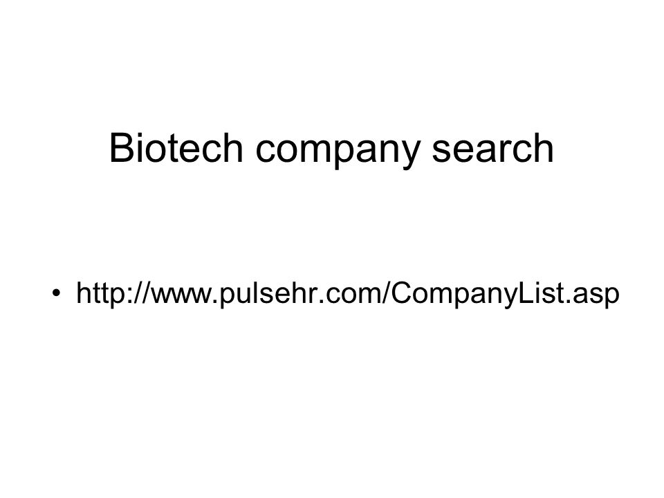 Biotech company search