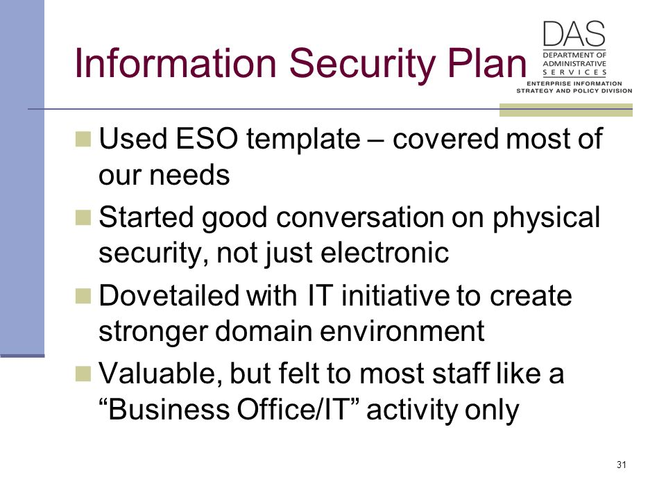 11 Enterprise Security Plan And Standards Forum Theresa A. Masse