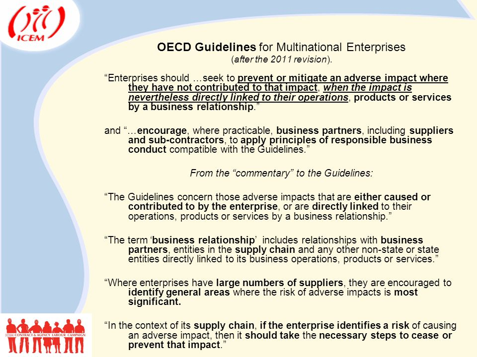 OECD Guidelines for Multinational Enterprises (after the 2011 revision).
