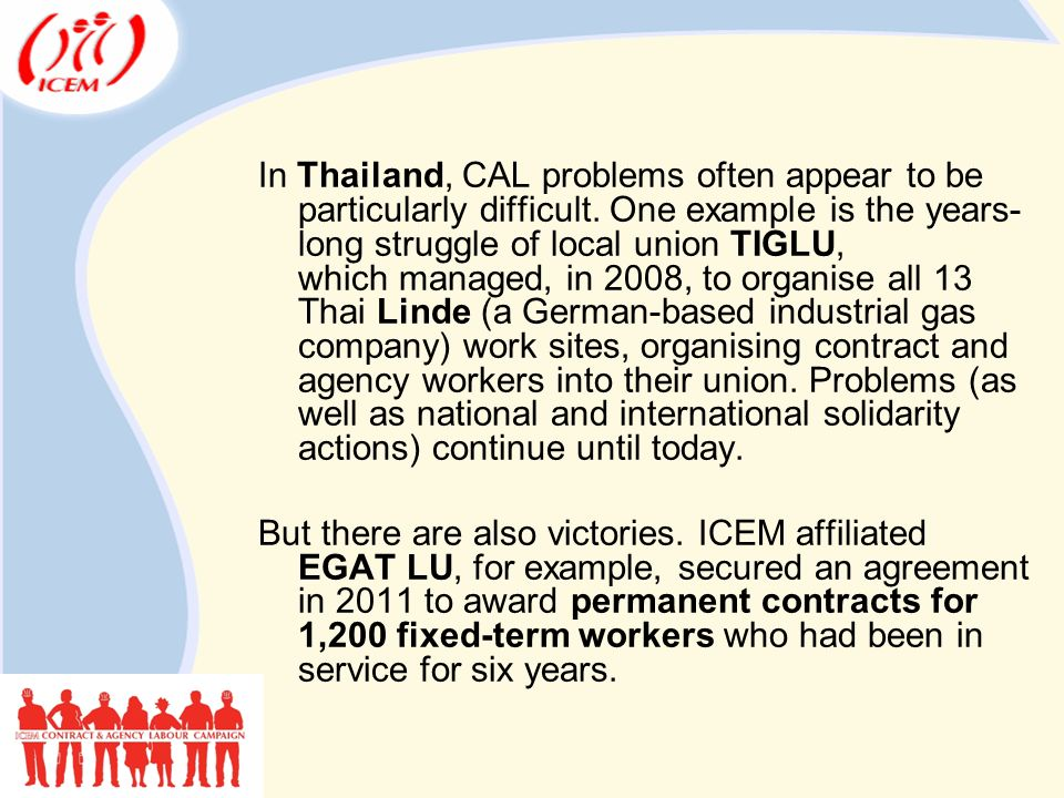 In Thailand, CAL problems often appear to be particularly difficult.