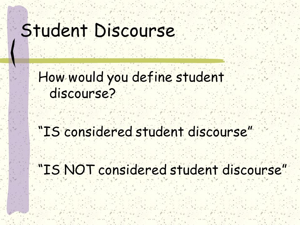 Norms What expectations and norms do you currently have related to classroom communication and/or discourse.