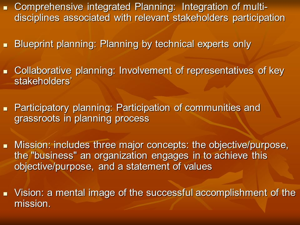 Strategic planning definitions concepts planning is a 3 comprehensive integrated malvernweather Image collections