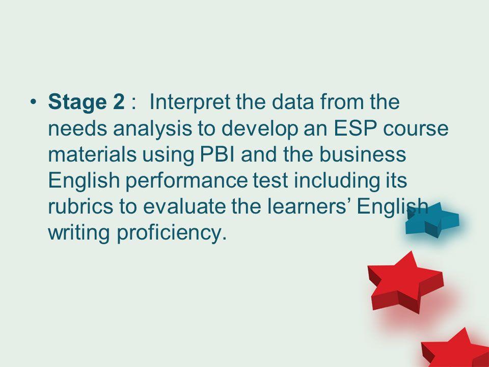 esp and needs analysis