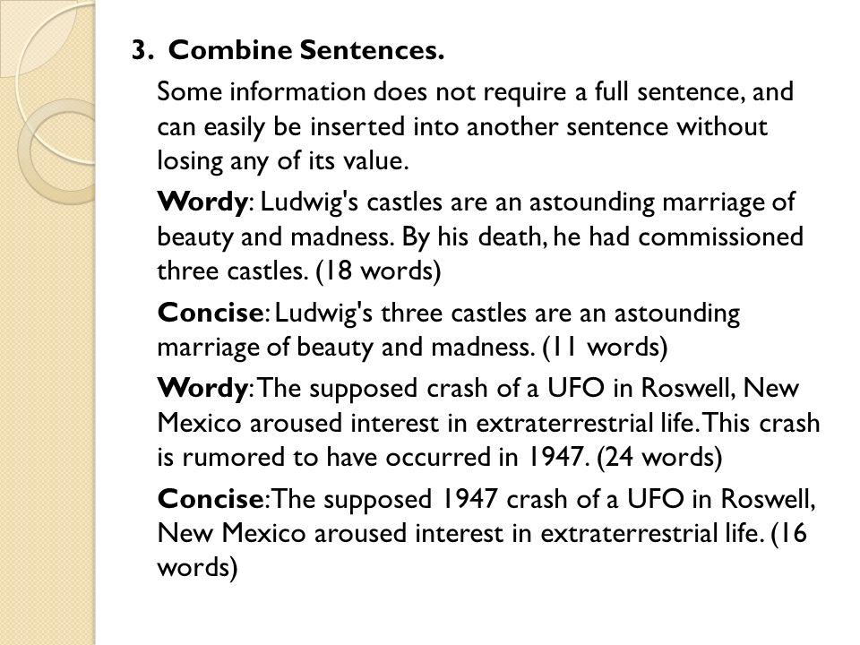 Full sentences