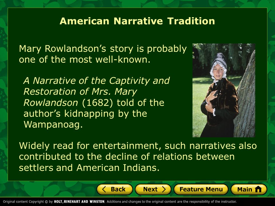methaphoric ideas of food and word remove in the narrative of the captivity and restoration of mrs m The narrative of the captivity and restoration of mrsmary rowlandson reveals that the ghastly depiction of the indian religion (or what rowlandson perceives as a lack of religion) in the narrative is directly related to the ideologies of her puritan upbringing.