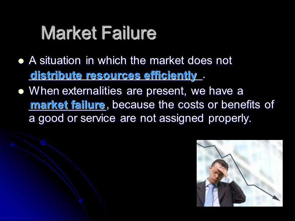 Market Failure A situation in which the market does not ___________________________.
