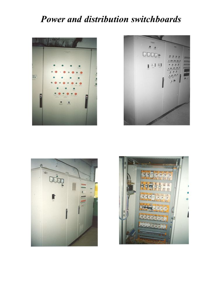 Power and distribution switchboards