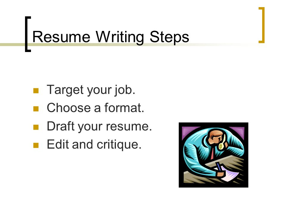An Effective Resume Is clear, organized, direct & professional.
