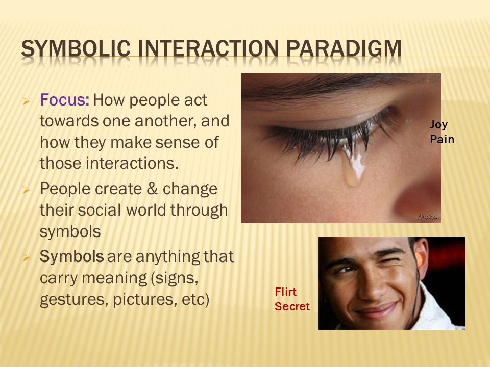  Focus: How people act towards one another, and how they make sense of those interactions.