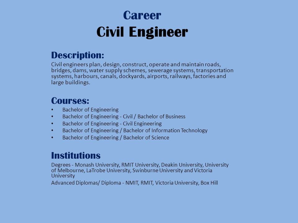description of civil engineering